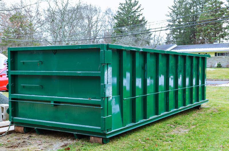 Container für Grünschnitt