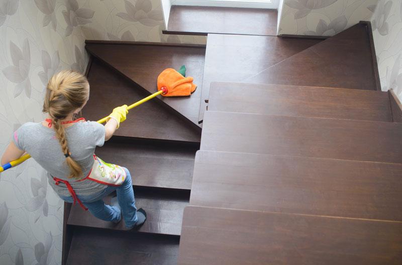 Treppen reinigen