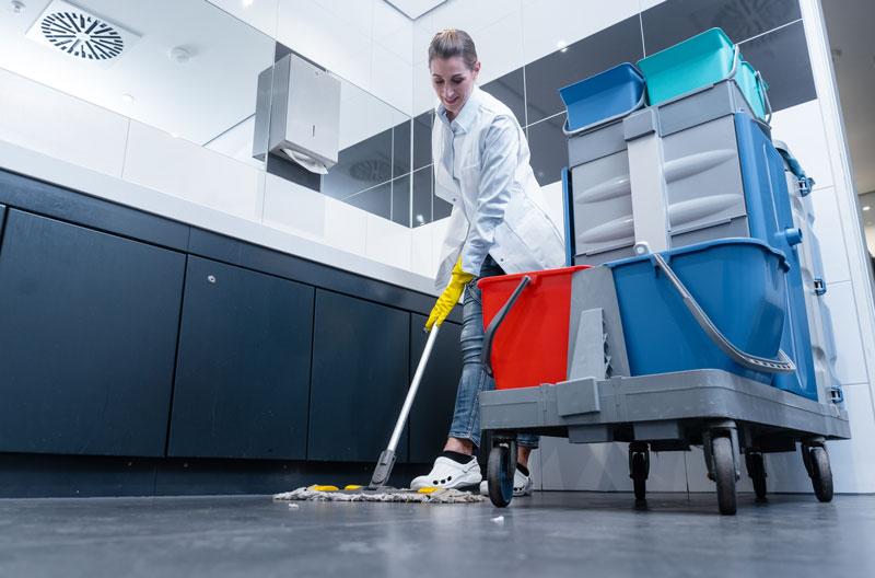 Waschräume reinigen