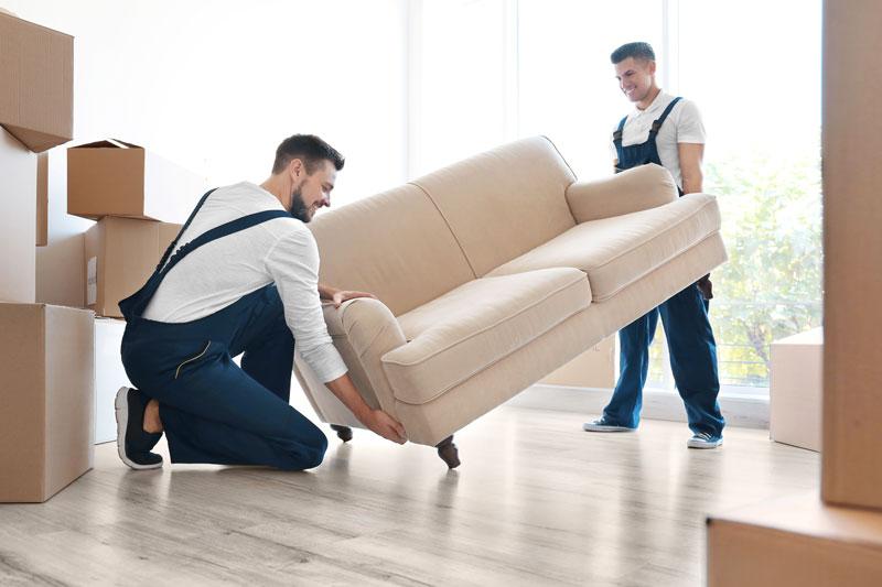 Transport der neuen Möbel